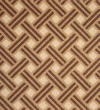 Bellbridge Frequency Safari Tan 5112/399 color swatch. Frequency is a cut pile wilton comprised of 3 colors (sand, brown, white) to create a diagonal lattice design.