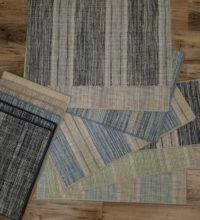 Bellbridge Linen Collection consisting of Linen 5700, Linen Band 5702 and Linen Stripe 5703. Samples are shown in various colors..